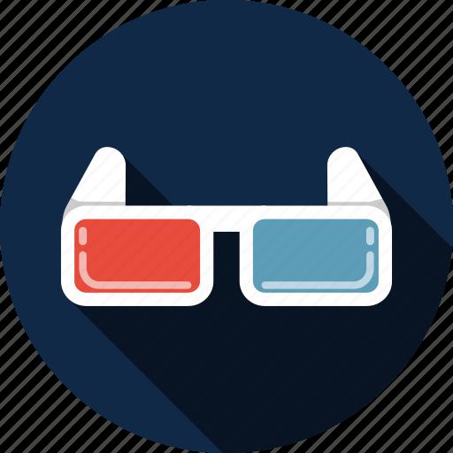 cinema, glasses, goggle, illusion, perspective, three-dimensional icon