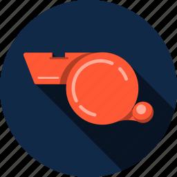 audio, play, soccer, sport, start, training, whistle icon
