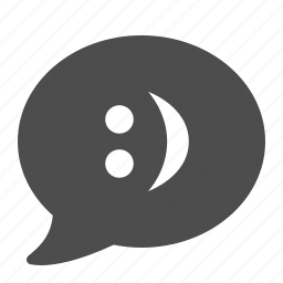 bubble, chat, smiley, social media, speech icon
