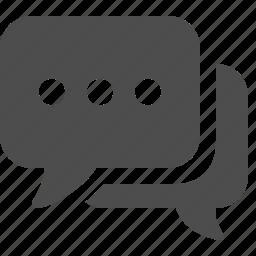 bubble, bubbles, chat, communication, media, social, speech icon