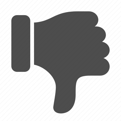 dislike, down, hand, thumbs down icon