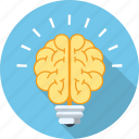 brain, bulb, business, creative, idea, mind, power icon