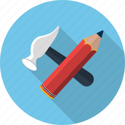 claw, equipment, hammer, pen, setting, tool, write icon