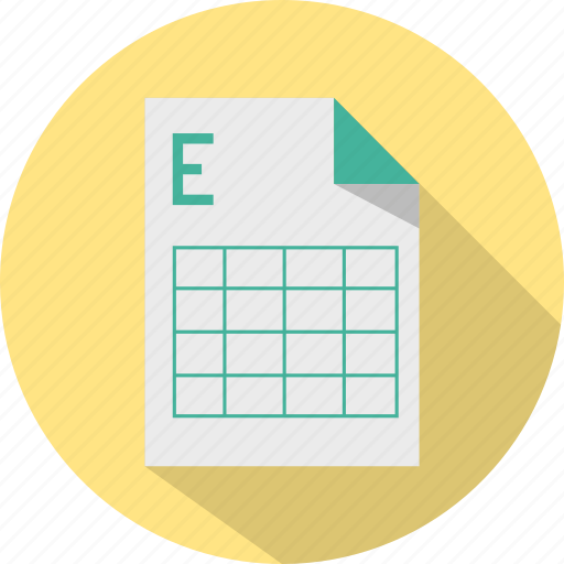 document, excel, file, format, grid, office, table icon