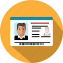 card, document, id, identification, identity, passport icon