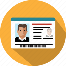 card, document, id, identification, identity, passport icon