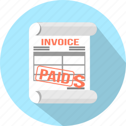 accounting, check, document, invoice, order, paid, payment icon