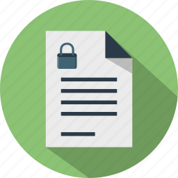 document, file, format, lock, paper, password, secure icon
