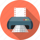 document, file, folder, matrix, paper, printer icon