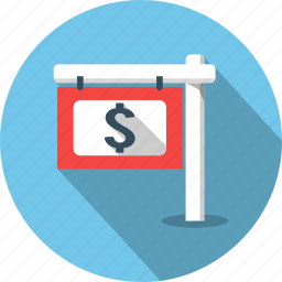 business, house, indicator, money, rent, sale, sold icon