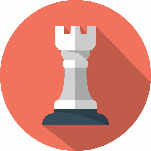 chess, game, piece, rook, tower icon