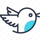 bird, communication, media, message, social, tweet, twitter icon