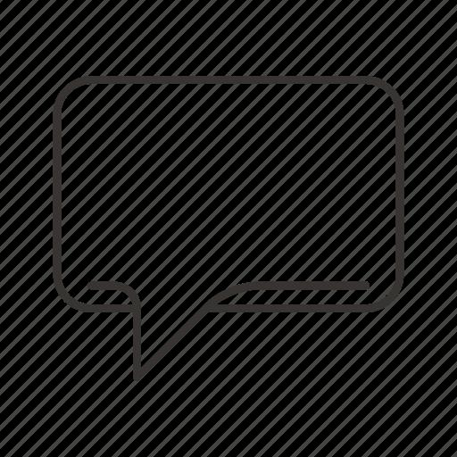 bubble, chat, comment, dialog, left, message icon