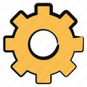cog, gear, mechanical icon