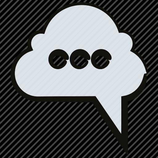 bubble, chat, cloud, speech, talk icon