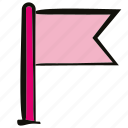 flag, success, target icon