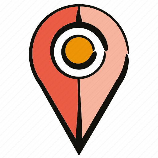 gps, location, map pin, pin, pointer icon