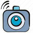 camera, gadget, shutter, wifi icon