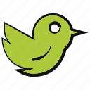 bird, fly, social media icon