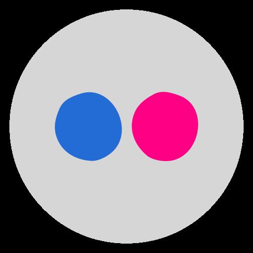 circled, flicker, flickr, media, network, social, social media icon