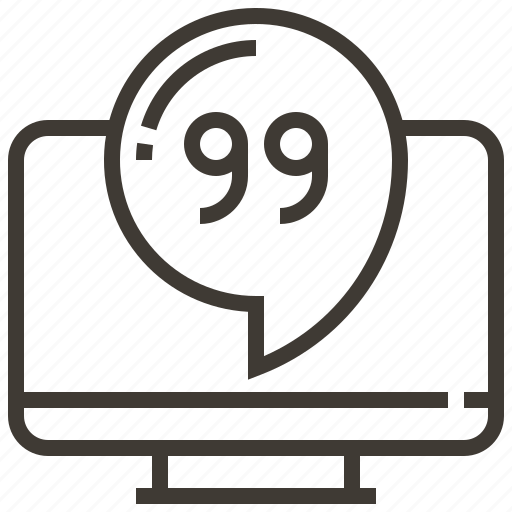 chat, communication, computer, media, message, social, technology icon