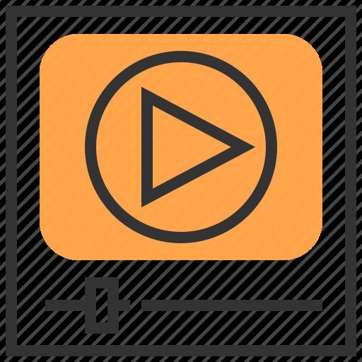 communication, interface, media, movie, social, technology, video icon