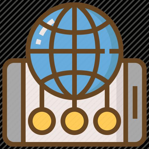 communication, global, media, network, smartphone, social, technology icon