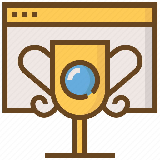 browser, communication, media, prize, social, technology, winner icon