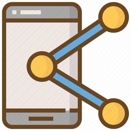 Communication, media, social, connection, link, network, smartphone icon - Download on Iconfinder