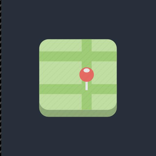 flag, gps, location, map, pin, pointer, socialmedia1 icon