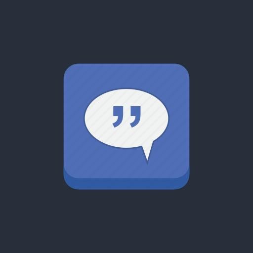 bubble, chat, communication, conversation, mail, message, socialmedia1 icon