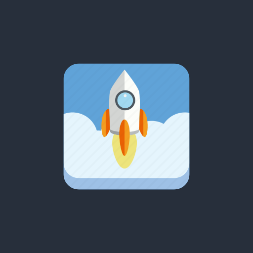business, company, rocket, socialmedia1, startup icon
