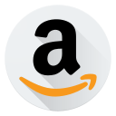 amazon, communication, internet, logo, marketing, shopping, social icon