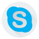 chat, communication, internet, logo, media, network, skype, social icon