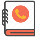 address, address book, book, contact, phone, phone book icon
