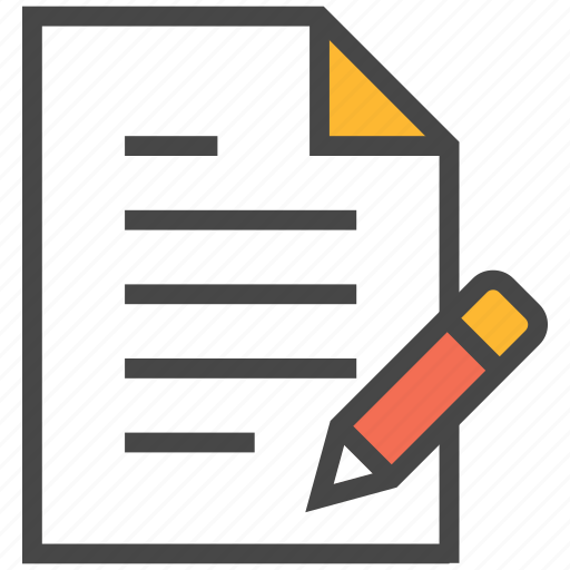 doc, document, edit, edit note, note, task edit icon
