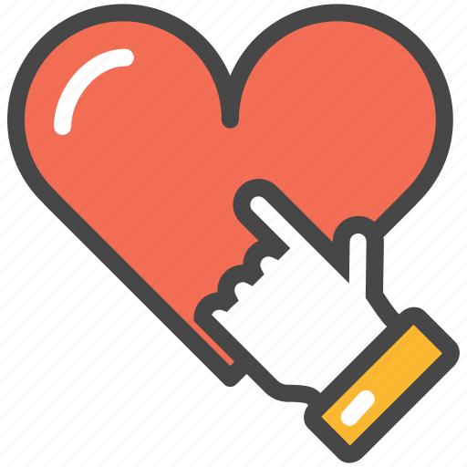 hand, heart, pointing icon