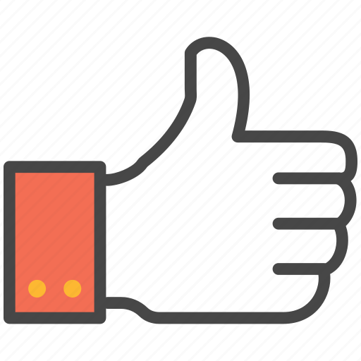 done, like, like hand, thumbs up, up icon