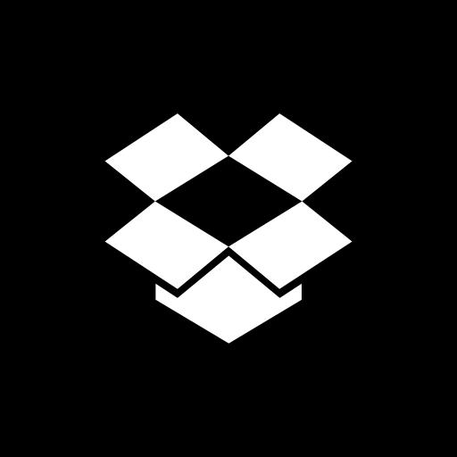 dropbox, media, social, website icon