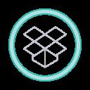 dropbox, save, social icons, storage icon