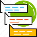chat, communication, conversation, discussion, forum, messages, talk icon