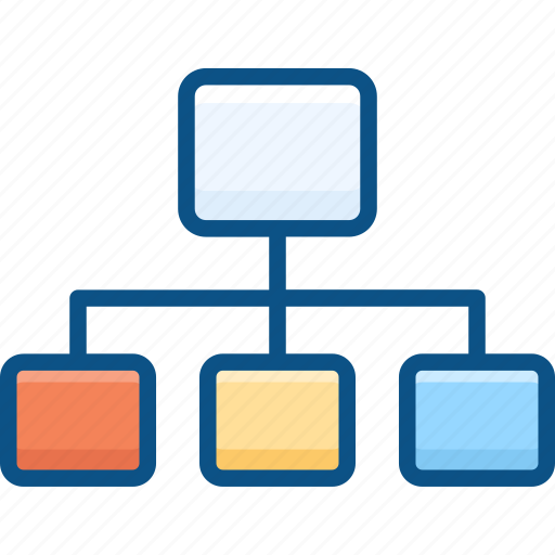 hierarchy, map, navigation, orgnization, site, sitemap, tree icon icon