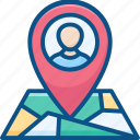 location pin, man location, map location, user location, user placeholder icon icon