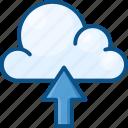 arrow up, cloud, cloud up, cloud upload, data, data uploading icon, storage, web icon