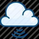 cloud, server, signal, storage, wireless icon icon