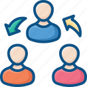 connection, employee, group, network, user icon icon
