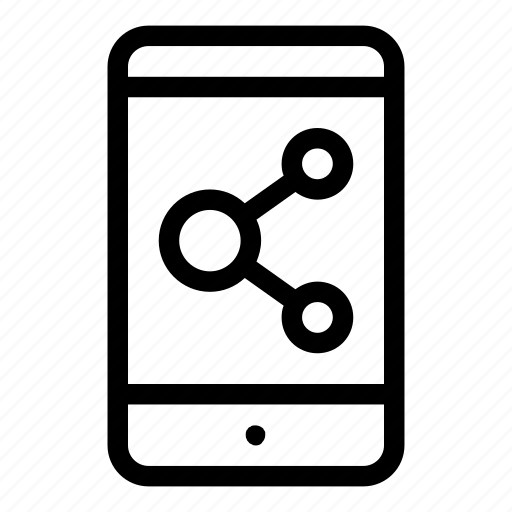 device, electronics, mobile, phone, share, sharing, smartphone icon