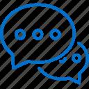 bubble, chat, communication, conversation, forum, message, talk icon