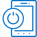 power, device, off, turn, on, smartphone, switch icon
