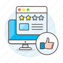 browser, comment, experience, like, media, page, product, rating, review, service, social, star